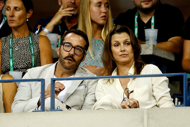 Actor Jeremy Piven and actress Bridget Moynahan attend Day Ten of the 2014 US Open at the USTA Billie Jean King National Tennis Center.