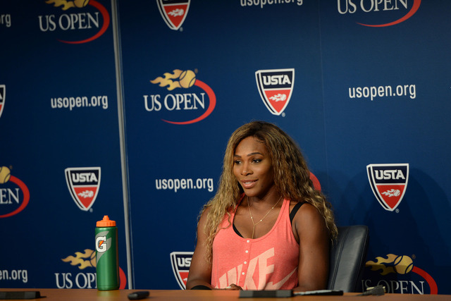No. 1 seed Serena Williams is interviewed ahead of the 2014 US Open.