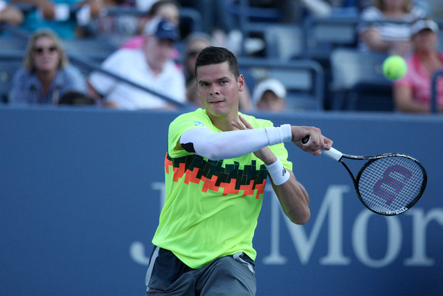 The puzzle pieces fit together for fifth seed Milos Raonic.