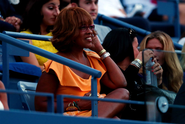 Co-Anchor of CBS This Morning Gayle King attends Day One of the 2014 US Open at the USTA Billie Jean King National Tennis Center.