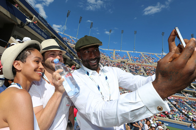 Amar'e Stoudemire of the NY Knicks in Arthur Ashe Stadium on Day 4 of the 2014 US Open.