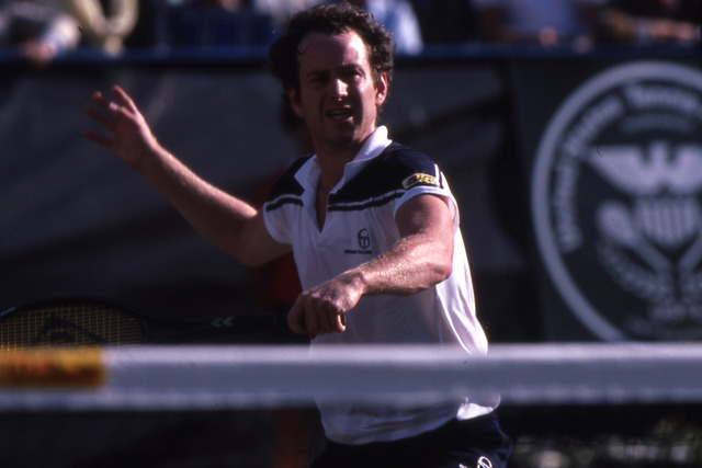 John McEnroe was one of four champions to advance on Super Saturday 1984, regarded as one of the greatest days in tennis history.