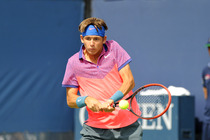 Jared Donaldson plays on Court 11 on Day 8 of the Open.