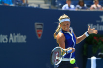 Azarenka, a two-time US Open finalist, had no answer for Makarova, converting just one break point opportunity in the quarterfinal match.