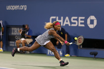 No. 1 Serena Williams in action during her quarterfinal match on Day 10 of the 2014 US Open. .