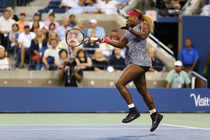 Serena Williams squares off against Flavia Pennetta in the quarterfinals on Day 10 of the 2014 US Open.