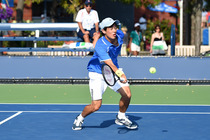 Mackenzie McDonald from UCLA in action in the quarterfinals of the inaugural American Collegiate Invitational tournament at the 2014 US Open.
