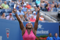 Number one seed Serena Williams takes down Ekaterina Makarova 6-1, 6-3 in the Women's Semifinals of the 2014 US Open.