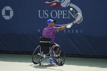 Day 13, and the start of finals weekend at the 2014 US Open, began with two-time quad singles Wheelchair Competition champion David Wagner winning over Andy Lapthorne, 6-3, 6-1.