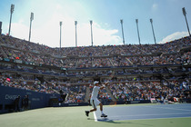 Kei Nishikori defeated No. 1 seed Novak Djokovic, 6-4, 1-6, 7-6, 6-3, in the semifinals on Day 13 of the 2014 US Open.