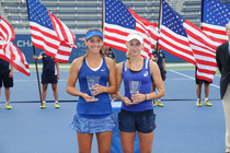 Ipek Soylu and Jil Belen Teichmann win the Junior Girls' Doubles Finals over Vera Lapko and Tereza Mihalikova at the 2014 US Open.