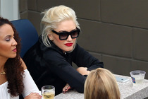 Gwen Stefani attends the men's singles semifinal match between Roger Federer and Marin Cilic.