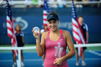 No. 2 seed Ana Konjuh defeated Tornado Alicia Black in the junior girls' singles final on Day 14 of the 2013 US Open.
