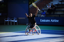 Lucas Sithole wins the wheelchair quad singles final over No. 1 seed David Wagner.