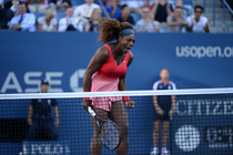 Defending champion Serena Williams shows a lot of emotion during the women's final of the 2013 US Open.