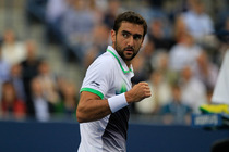 Marin Cilic during the men's final of the 2014 US Open against Kei Nishikori in Arthur Ashe Stadium.