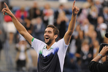 Marin Cilic celebrates after winning the 2014 US Open.