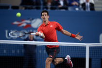 No. 1 seed Novak Djokovic during the 2013 US Open men's final against No. 2 seed Rafael Nadal.