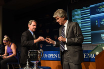 USTA Chairman, CEO and President Dave Haggerty and US Open Referee Brian Earley at the 2014 US Open Draw Ceremony.