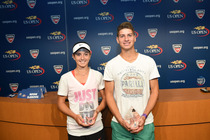 2014 US Open Junior Sportsman Award winners CiCi Bellis and Aron Hiltzik.