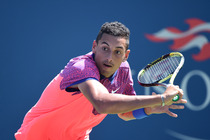 Nick Kyrgios in action on Day 1 of the 2014 US Open.