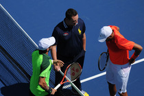 Ninth seed Jo-Wilfried Tsonga takes on Juan Monaco in the first round of the 2014 US Open.