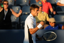 Spaniard Tommy Robredo takes down Edouard Roger-Vasselin in three sets at the 2014 US Open.