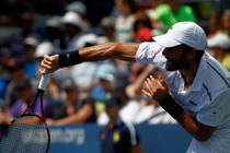 Spain's Pablo Andujar in action in the Grandstand on Day 2 of the US Open.