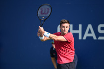 Tim Smyczek plays in the first round of the US Open on Tuesday.