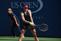 Christina McHale in action on Day 2 of the Us Open.