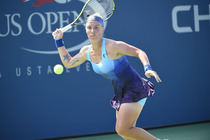Constellations adorn the dress on 2004 US Open champion Svetlana Kuznetsova.