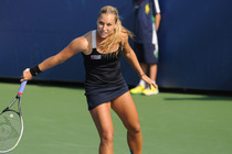 Dominika Cibulkova is defeated by American CiCi Bellis.
