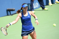 American Lauren Davis in action on Day 2 of the US Open.