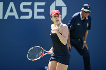 Alize Cornet defeated Daniela Hantuchova, 6-3, 6-3, on Court 5 on Wednesday.