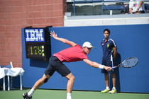 Another first round affair was the four-hour, two-minute clash on Court 17 between Kevin Anderson and Pablo Cuevas. Anderson won with a fifth-set tiebreak, 6-3, 6-7, 4-6, 6-2, 7-6.