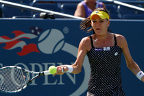 Agnieszka Radwanska of Poland in Day 3 action of the 2014 US Open.