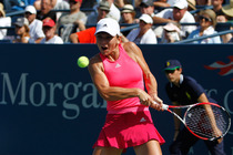 No. 2 Simona Halep wins her second round match on Day 3 of the 2014 US Open.