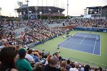 A view of Court 17 during the second-round match between Maidson Brengle and Sabine Lisicki.