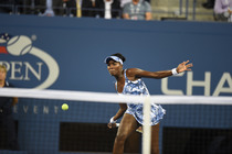 Venus Williams during a second-round match against Timea Bacsinszky.