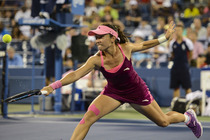 Jie Zheng defeated Venus Williams 6-3, 2-6, 7-6, on Day 3 of the US Open.