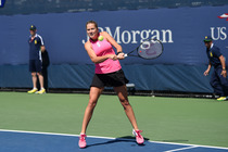 Shelby Rogers in action in the second round of the US Open.