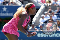 Serena Williams in her second-round match in Arthur Ashe Stadium on Day 4 of the US Open.