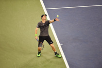 Kicking off the night slate was 2012 US Open winner Andy Murray, who looked much stronger than he did in his four-setter on Monday. The No. 8 seed advanced in straight sets over Matthias Bachinger.