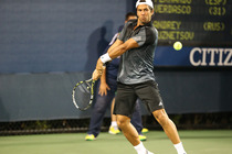 Fernando Verdasco loses to Andrey Kuznetsov in a second round match at the 2014 US Open.