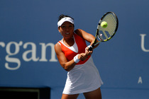 Vania King in her second round match at the 2014 US Open