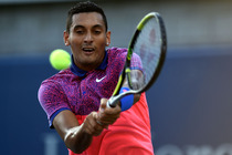 Nick Kyrgios against Andreas Seppi in a second-round match on Court 5.