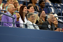 Tony Bennett on Arthur Ashe Stadium during the Andy Murray second-round match against Matthias Bachinger.