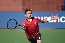 Tim Smyczek in action on Day 5 of the US Open.