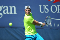 Illya Marchenko in action on Court 11 on Day 5 of the US Open.