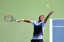 Marin Cilic serving in the second round of the US Open.